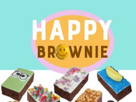 Baktotaal Bouwhuis en Bakels introduceren Happy Brownie-concept